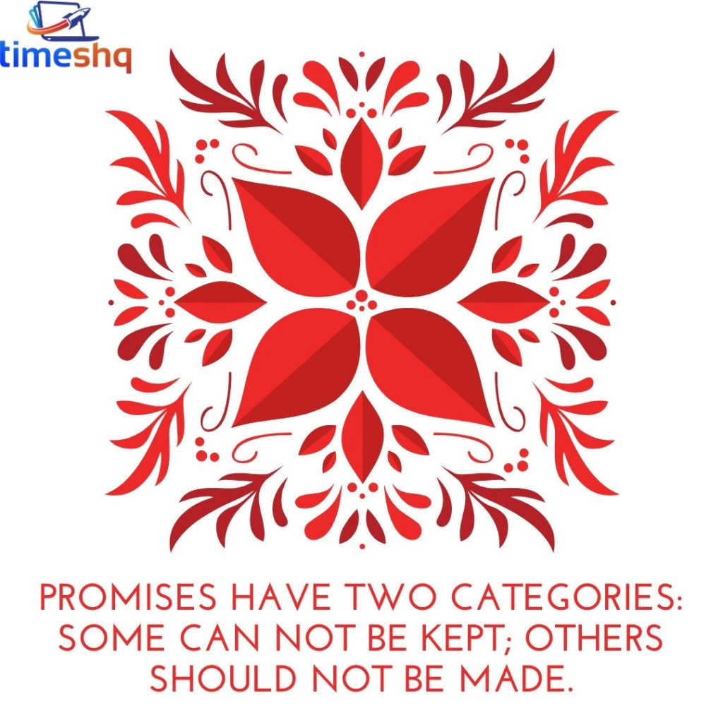Status stating with word Promise